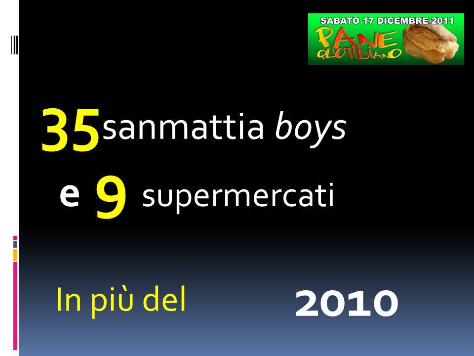 35 sanmattia boys e 9 supermercati In più del 2010