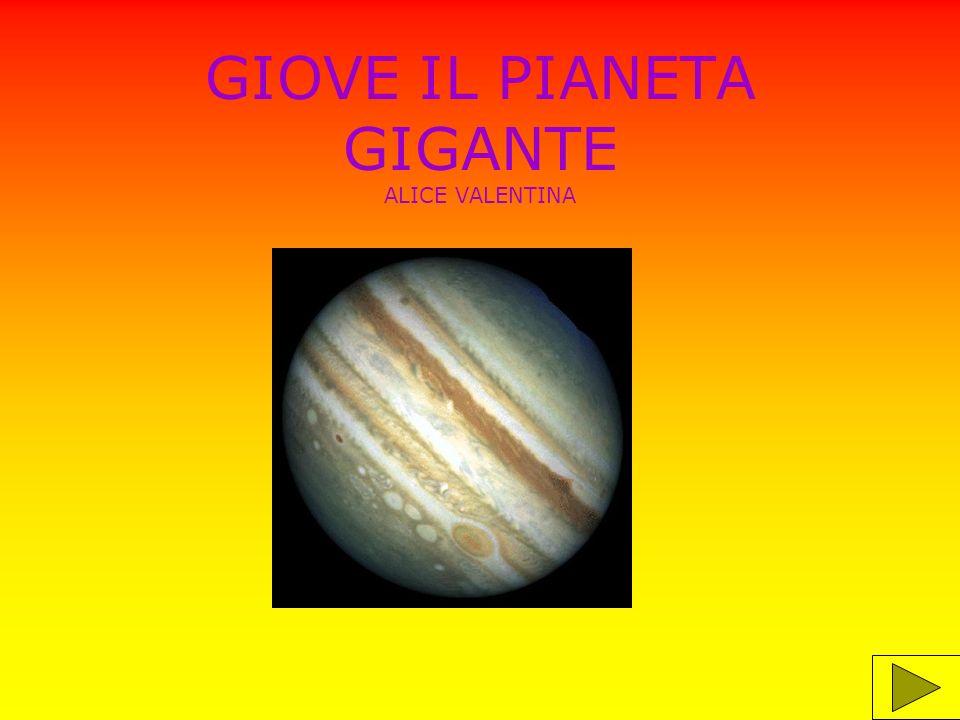 Giove è il pianeta più grande del sistema solare; è fatto di materia aeriforme, all interno ha un nucleo solido.