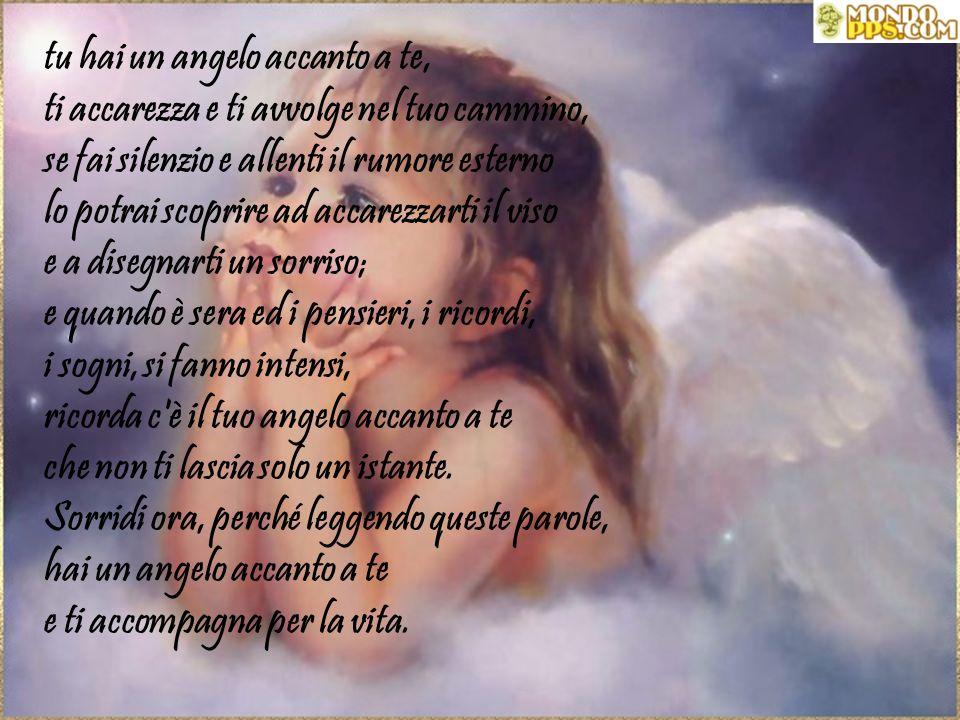 Tu non sei mai solo, hai un angelo accanto a te, nei momenti più bui ti stringe forte tra le ali e il cuore e non ti lascia andare. Tu non sei mai sol