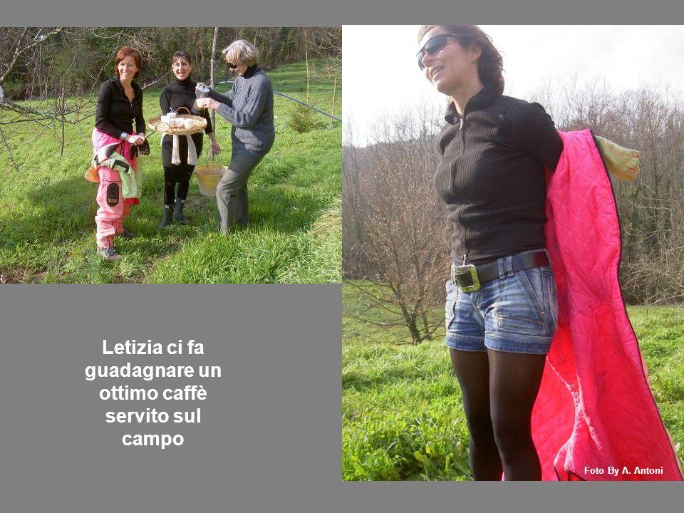 Letizia ci fa guadagnare un ottimo caffè servito sul campo Foto By A. Antoni