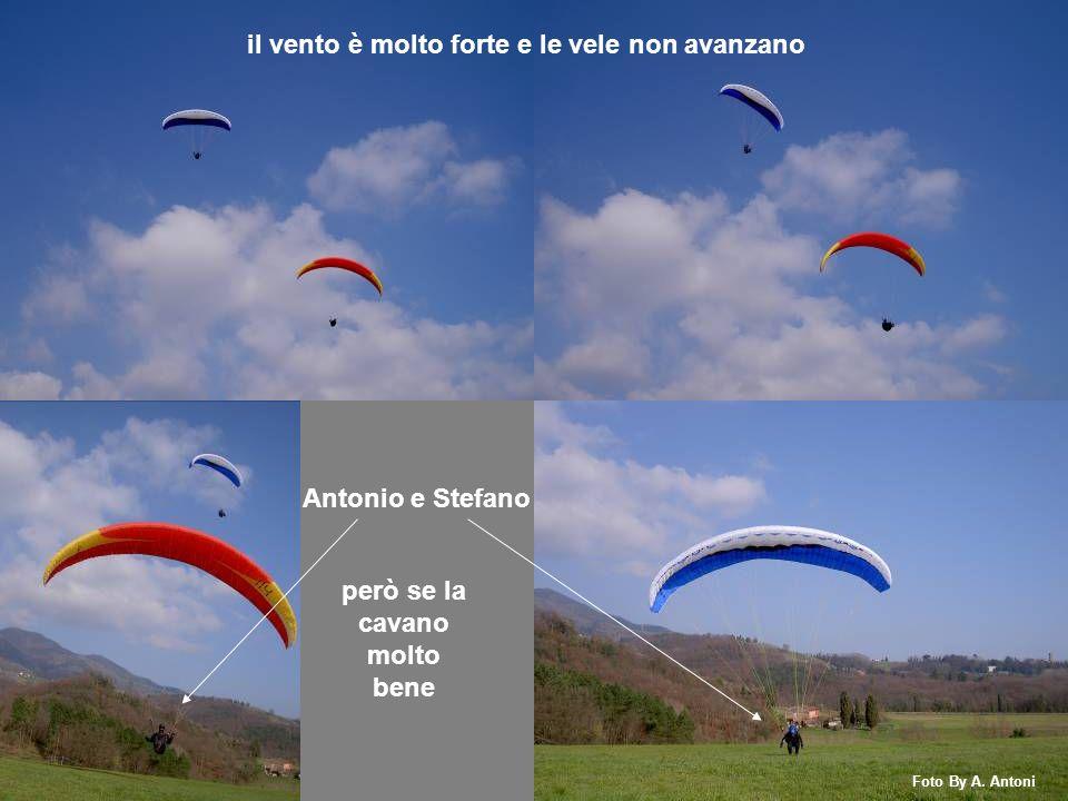 Luciana e Adolfo combattono con il vento forte arrivano corti ma la loro bravura gli permette un morbido atterraggio Foto By A.