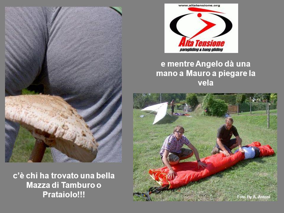 e mentre Angelo dà una mano a Mauro a piegare la vela cè chi ha trovato una bella Mazza di Tamburo o Prataiolo!!.