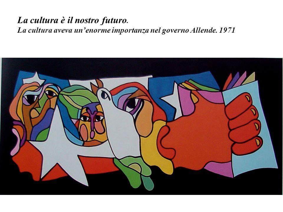 La riforma agraria è stata una delle misure più importanti per il recupero delle terre dai latifondi ai contadini. Murales realizzato in una zona dove