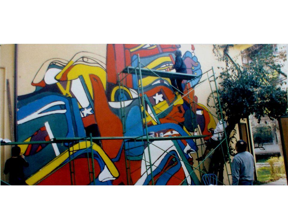 Muralisti al lavoro
