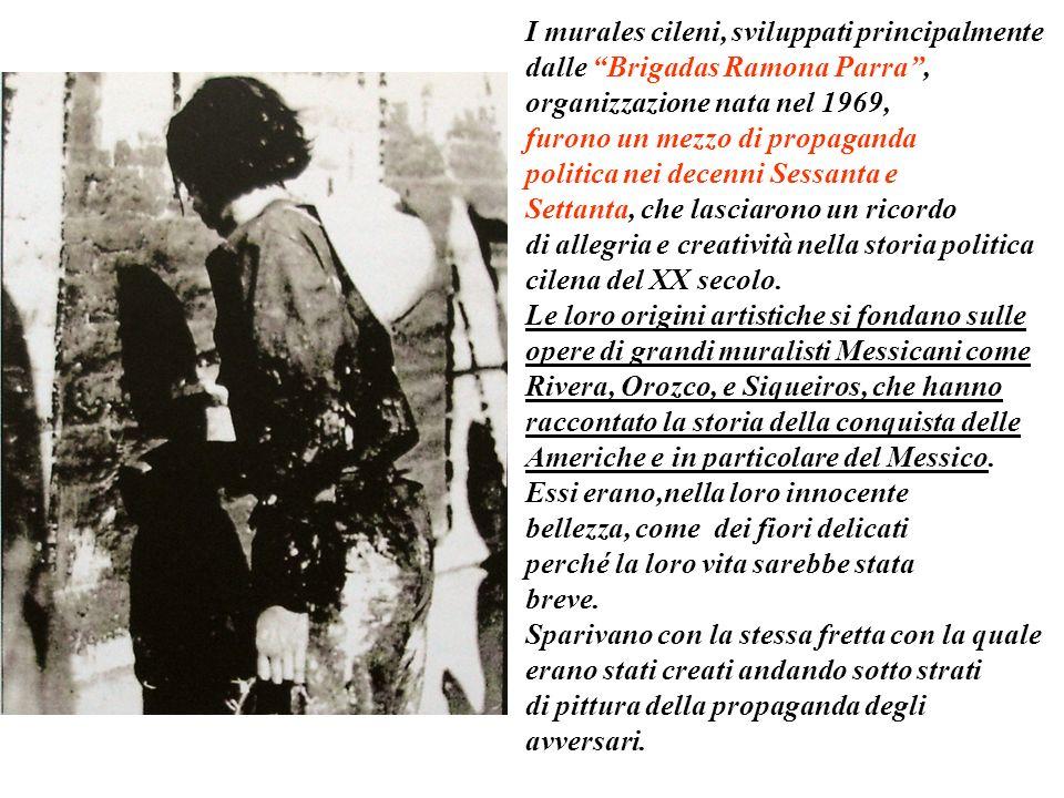 Il testo e le immagini seguenti sono tratti dal libro Il sogno dipinto El sueno pintado I murales del Cile nella memoria storica di Eduardo Mono Carra