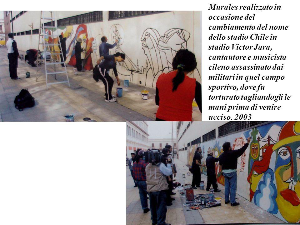 Murales realizzato nellex carcere di Valparaiso in Cile. 2003