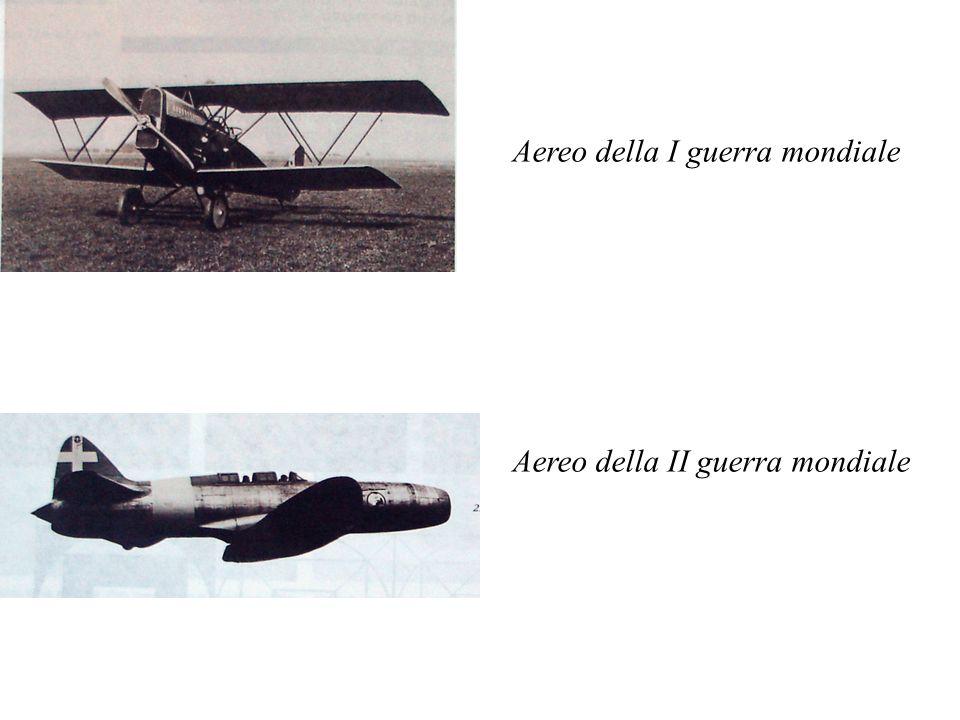 Aereo della I guerra mondiale Aereo della II guerra mondiale