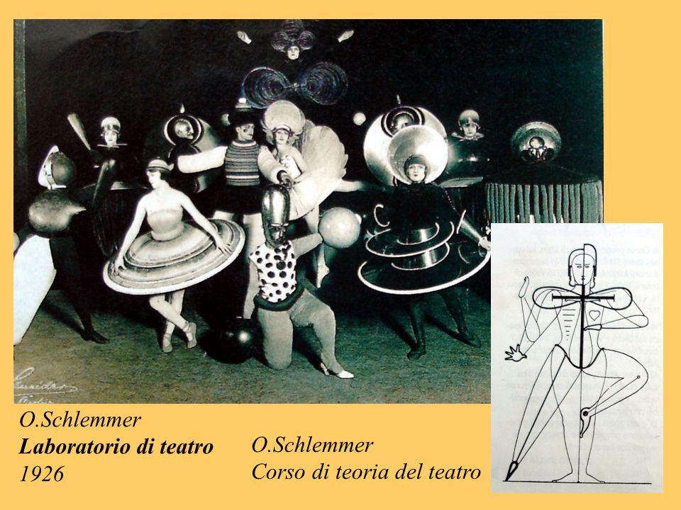 O.Schlemmer Corso di teoria del teatro O.Schlemmer Laboratorio di teatro 1926