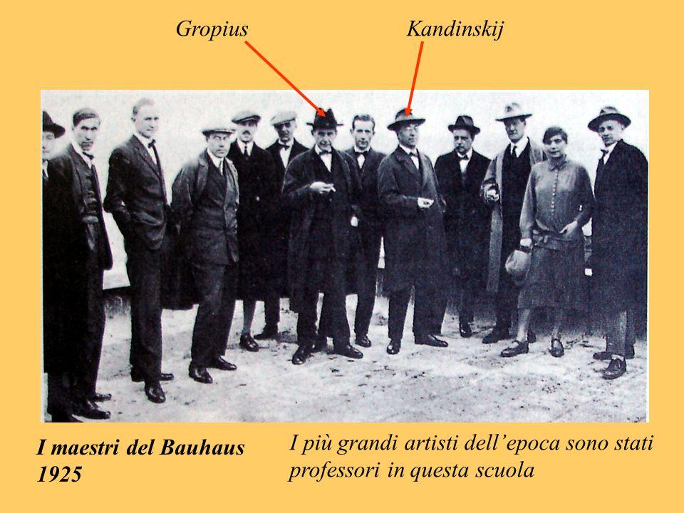 I maestri del Bauhaus 1925 GropiusKandinskij I più grandi artisti dellepoca sono stati professori in questa scuola