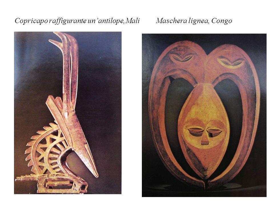 Copricapo raffigurante unantilope,Mali Maschera lignea, Congo