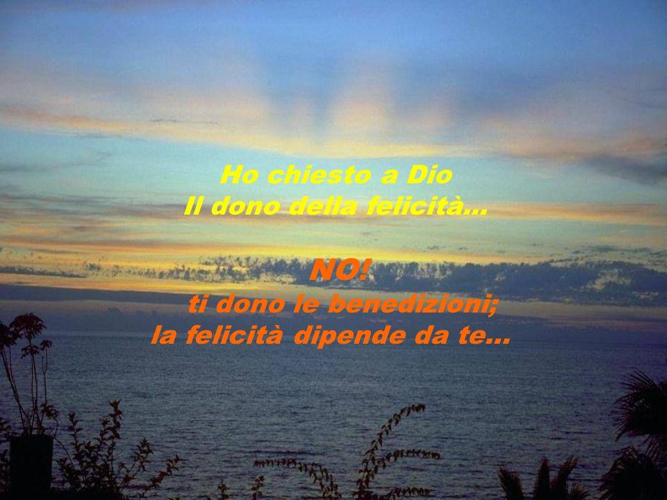Ho chiesto a Dio di donarmi la pazienza… NO! La pazienza deriva dalla tribolazione: non é concessa, ma devessere acquisita.