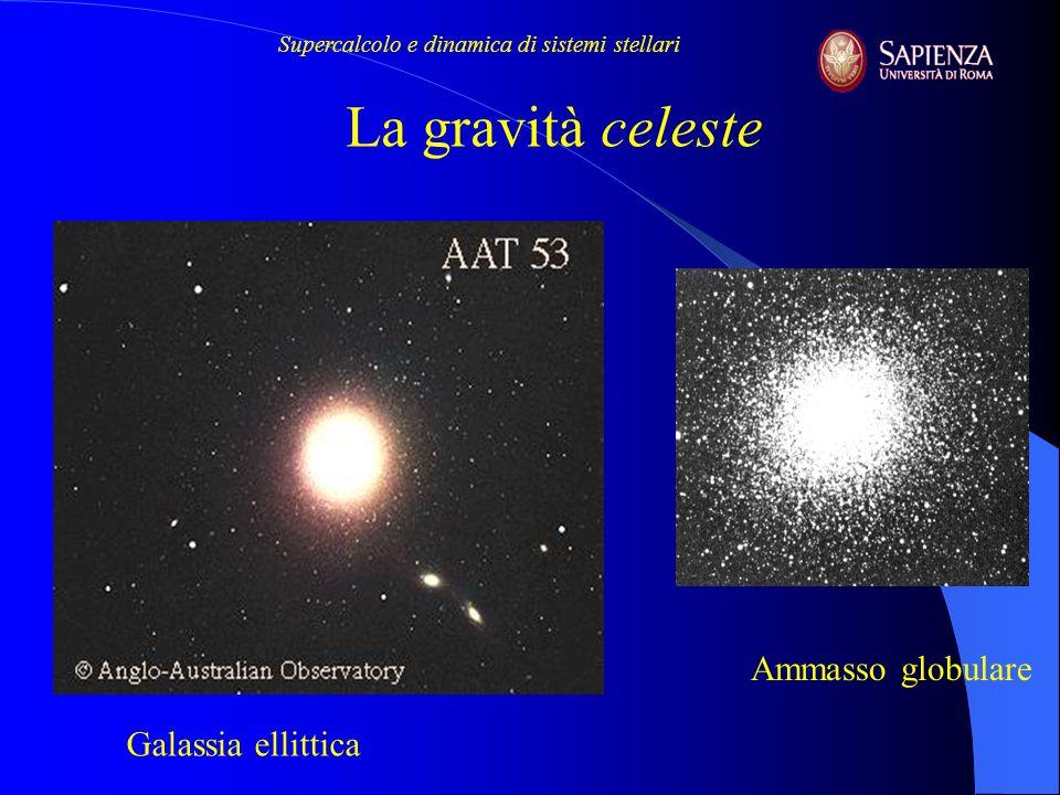 ~10 -8 ~10 -2 lago di Garda 30 pc = 90 al = 6x10 6 UA AG: M 13 Ammasso di galassie 1 Mpc =30 Mal = 2 GUA 50 km auto grav/ext grav Peculiarità dell astrofisica è il ruolo dellauto-gravità (self-gravity) Supercalcolo e dinamica di sistemi stellari