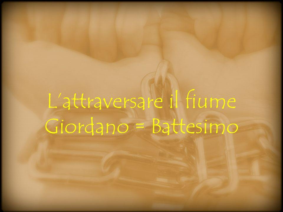 Lattraversare il fiume Giordano = Battesimo