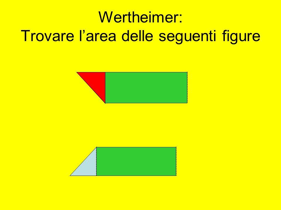 Wertheimer: Trovare larea delle seguenti figure