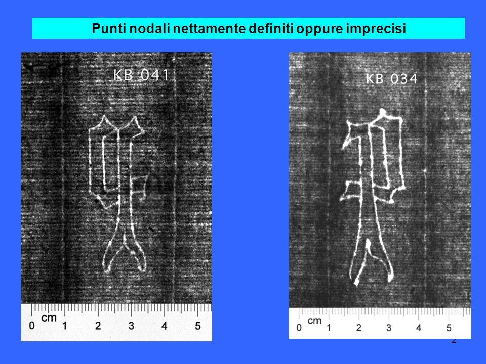2 Punti nodali nettamente definiti oppure imprecisi