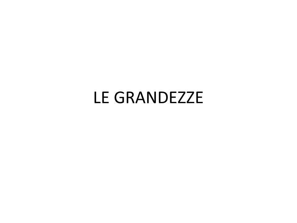 LE GRANDEZZE