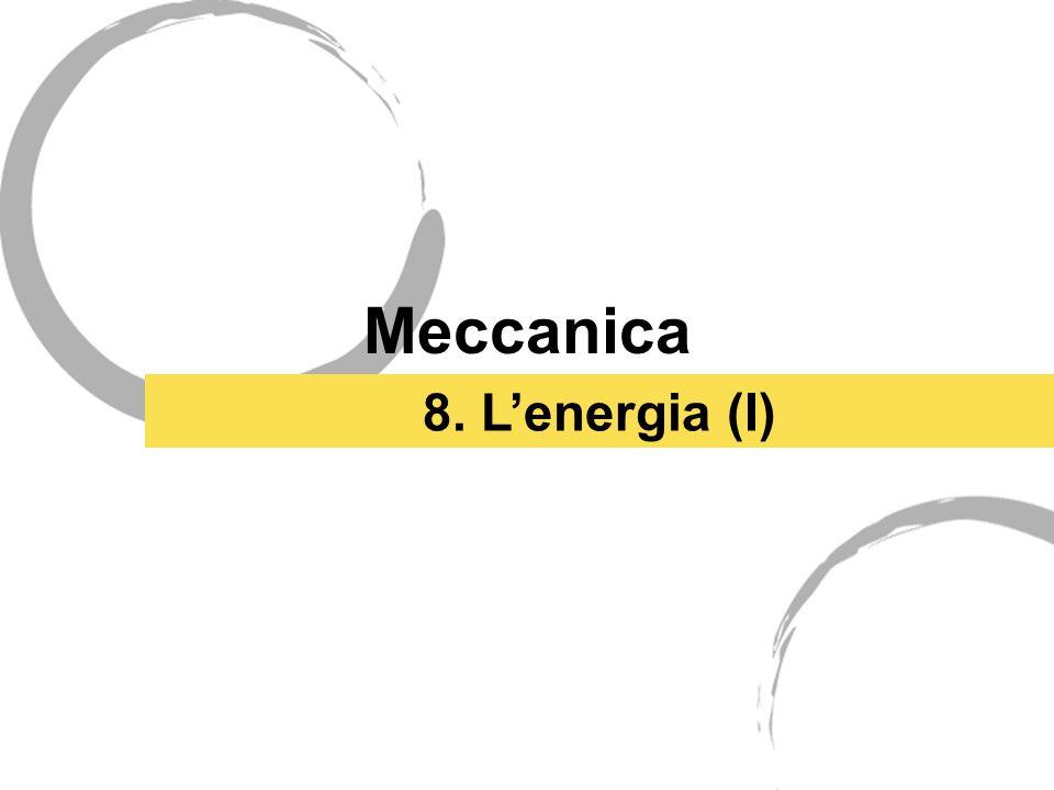 Meccanica 8. Lenergia (I)
