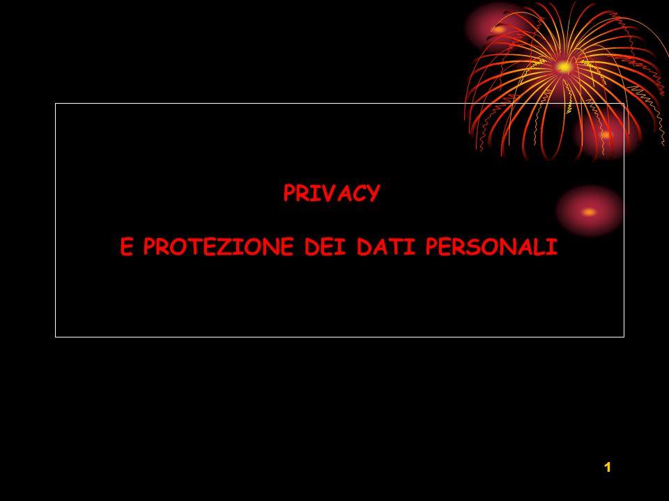 1 PRIVACY E PROTEZIONE DEI DATI PERSONALI