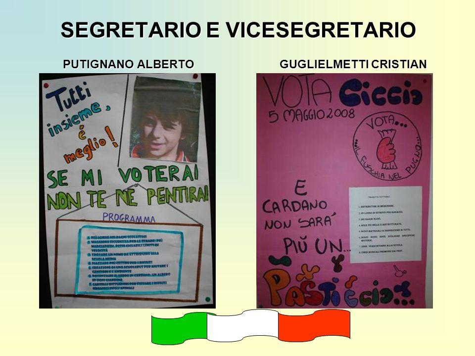 SEGRETARIO E VICESEGRETARIO PUTIGNANO ALBERTO GUGLIELMETTI CRISTIAN