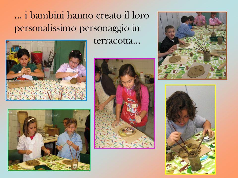 … i bambini hanno creato il loro personalissimo personaggio in terracotta…