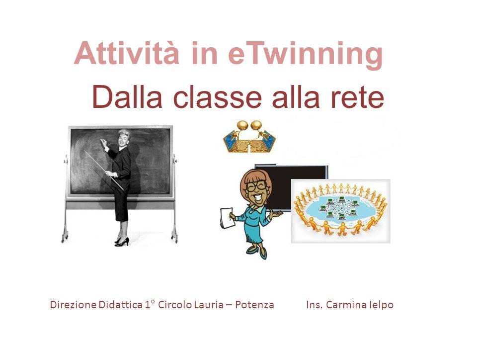 Attività in eTwinning Dalla classe alla rete Direzione Didattica 1° Circolo Lauria – Potenza Ins.