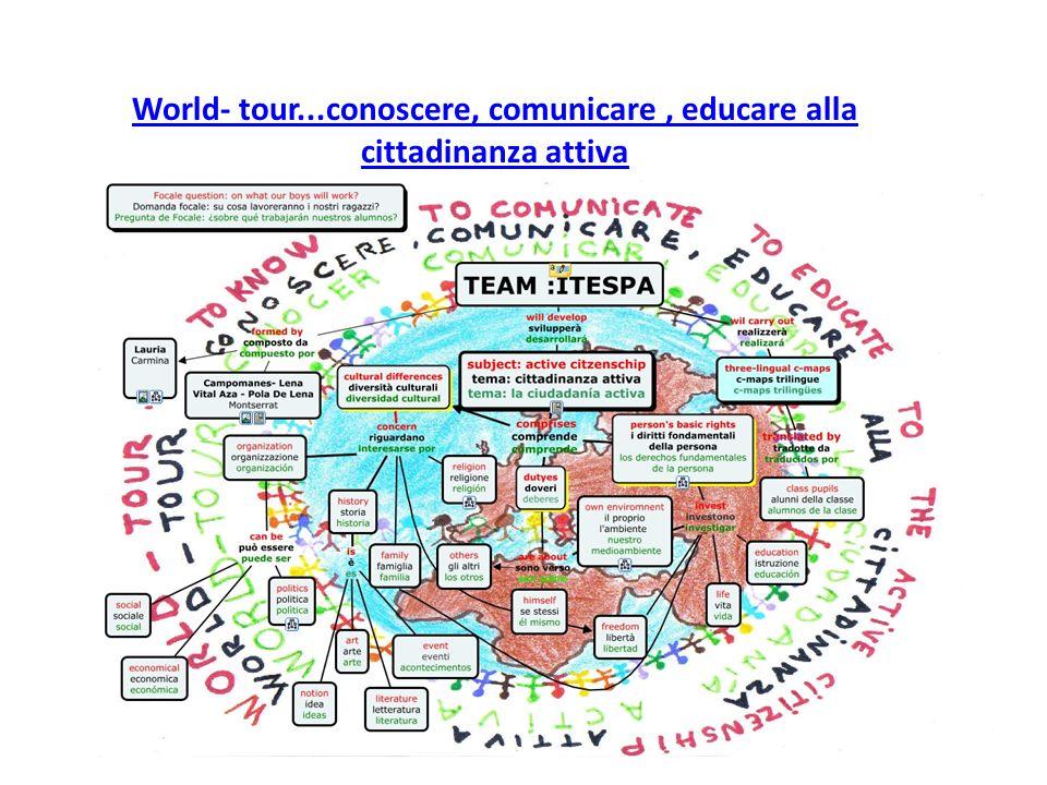World- tour...conoscere, comunicare, educare alla cittadinanza attiva