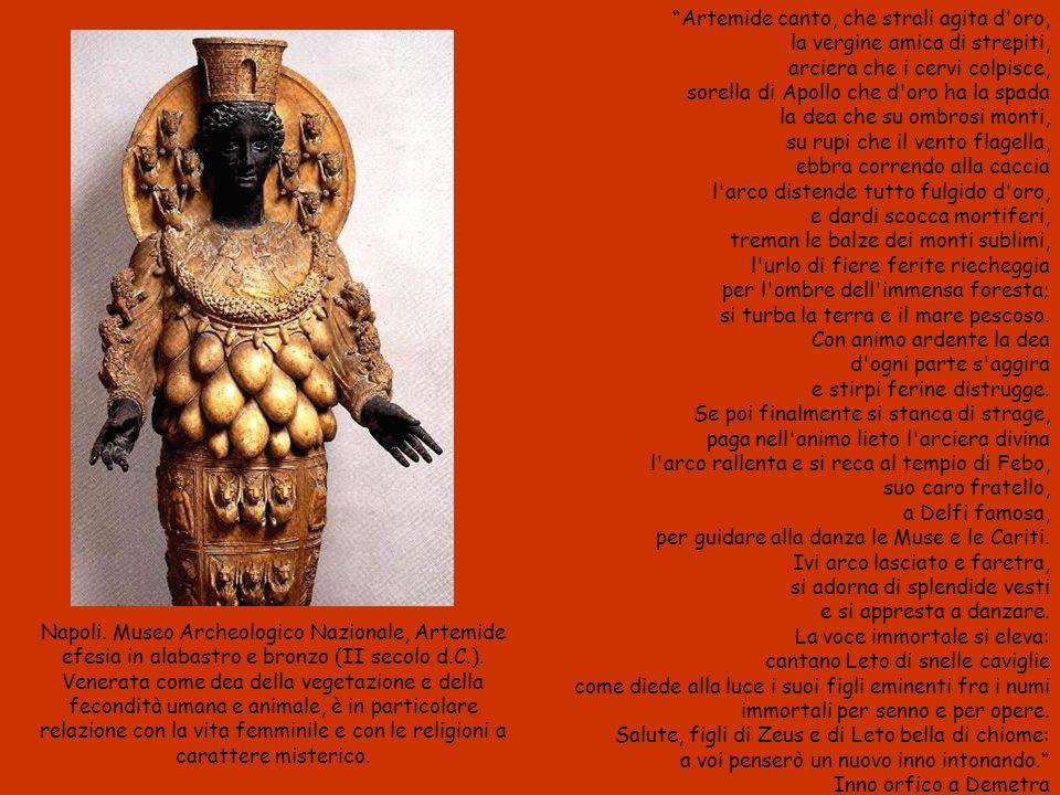 Napoli.Museo Archeologico Nazionale, Artemide efesia in alabastro e bronzo (II secolo d.C.).