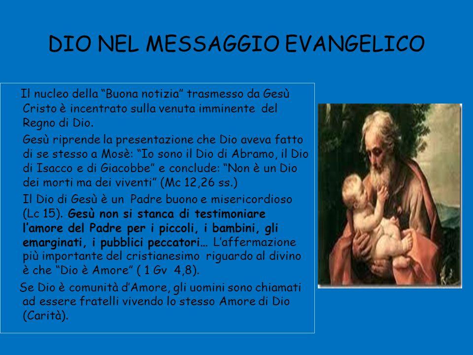DIO NEL MESSAGGIO EVANGELICO Il nucleo della Buona notizia trasmesso da Gesù Cristo è incentrato sulla venuta imminente del Regno di Dio.