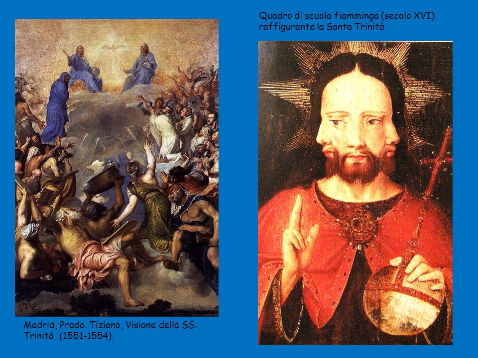 Madrid, Prado.Tiziano, Visione della SS. Trinità (1551-1554).