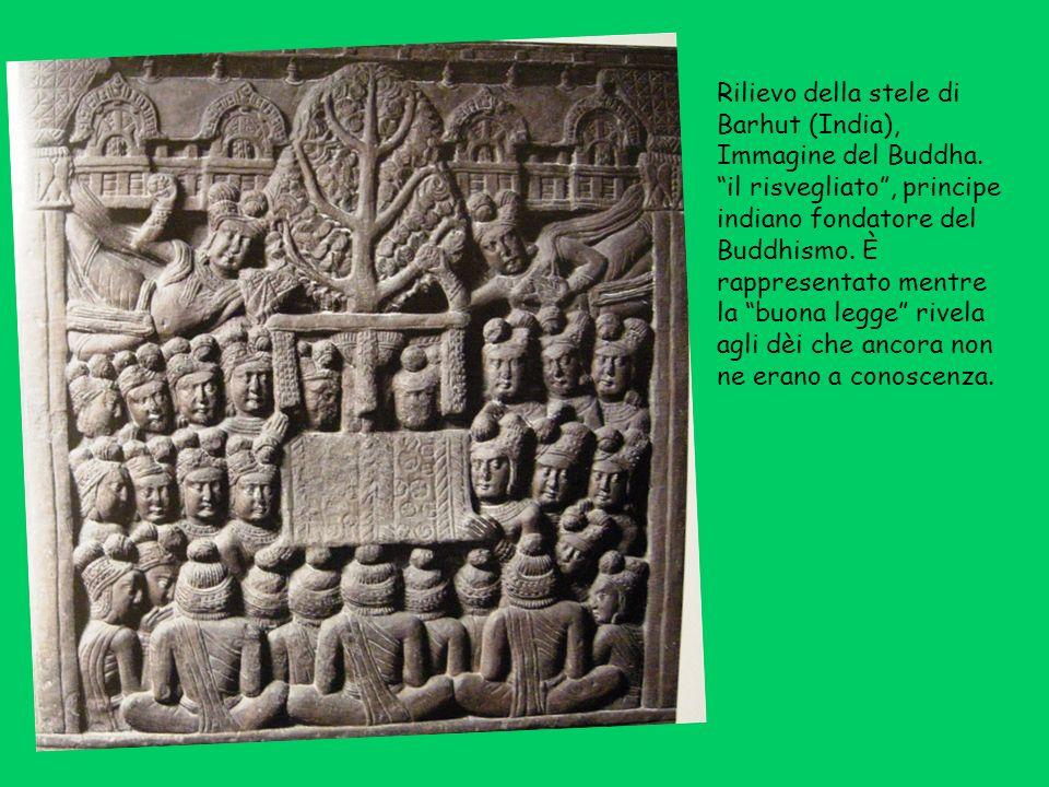 Rilievo della stele di Barhut (India), Immagine del Buddha.