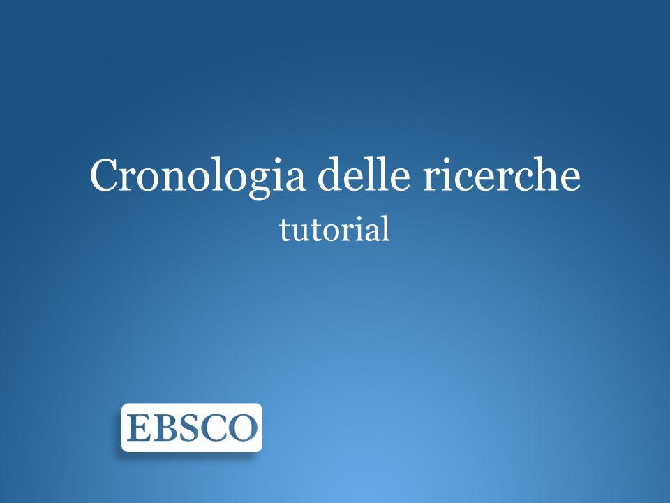 Benvenuti al tutorial dedicato alla funzione cronologia delle ricerche di EBSCOhost.