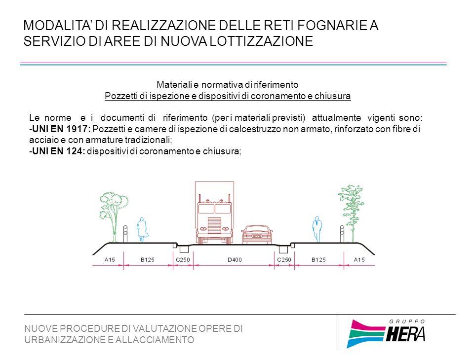MODALITA DI REALIZZAZIONE DELLE RETI FOGNARIE A SERVIZIO DI AREE DI NUOVA LOTTIZZAZIONE NUOVE PROCEDURE DI VALUTAZIONE OPERE DI URBANIZZAZIONE E ALLACCIAMENTO Sistemi di raccolta e trattamento delle acque di prima pioggia In relazione a quanto disposto dalle vigenti normative nazionali e regionali, in funzione della tipologia dei futuri insediamenti nei singoli lotti privati in fase di richiesta di permesso di costruire potranno essere previsti idonei apparati idraulici di raccolta e trattamento delle acque di prima pioggia o reflue di dilavamento delle superfici suscettibili di contaminazione.