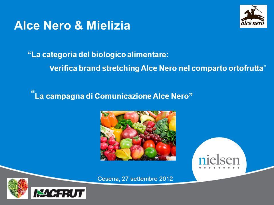 Alce Nero & Mielizia La categoria del biologico alimentare: v erifica brand stretching Alce Nero nel comparto ortofrutta La campagna di Comunicazione