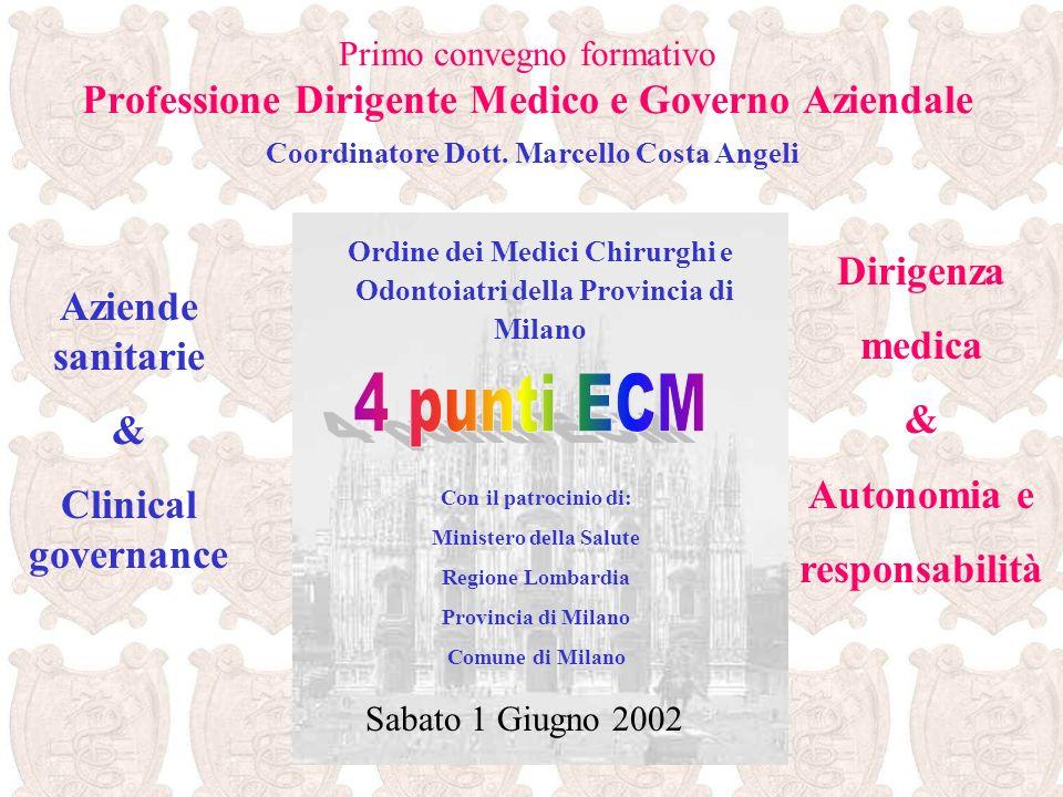 Convegno formativo Professione Dirigente Medico e Governo Aziendale 1.