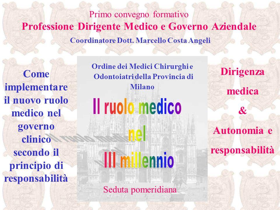 Convegno formativo Professione Dirigente Medico e Governo Aziendale …… sono sempre riusciti a proteggere la loro sfera professionale e, tra tutte, le attività finalizzate al paziente.