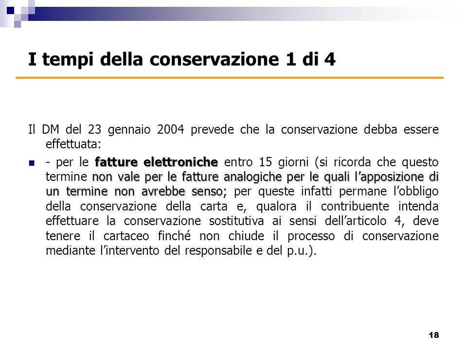 Per i documenti diversi dalle fatture, i libri ed i registri il processo di conservazione deve essere concluso con cadenza annuale.