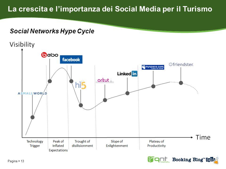 Pagina 13 Social Networks Hype Cycle La crescita e limportanza dei Social Media per il Turismo