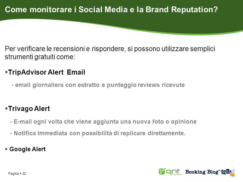 Come monitorare i Social Media e la Brand Reputation.