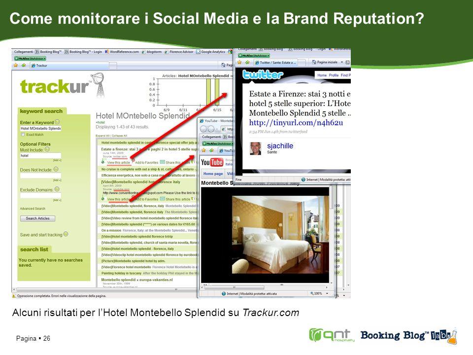 Pagina 26 Alcuni risultati per lHotel Montebello Splendid su Trackur.com Come monitorare i Social Media e la Brand Reputation