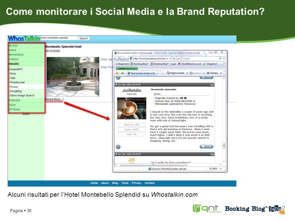 Pagina 30 Alcuni risultati per lHotel Montebello Splendid su Whostalkin.com Come monitorare i Social Media e la Brand Reputation