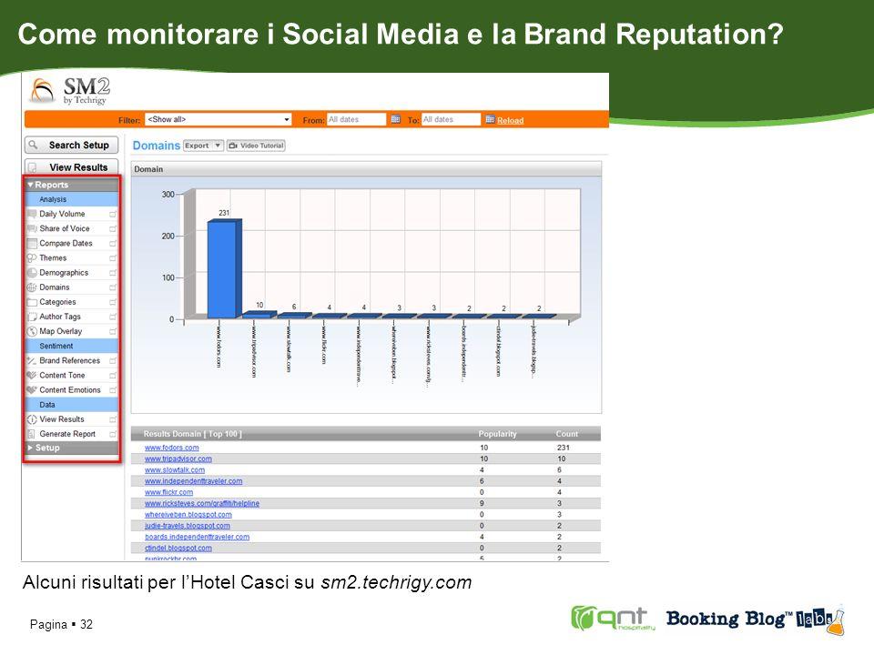 Pagina 32 Alcuni risultati per lHotel Casci su sm2.techrigy.com Come monitorare i Social Media e la Brand Reputation