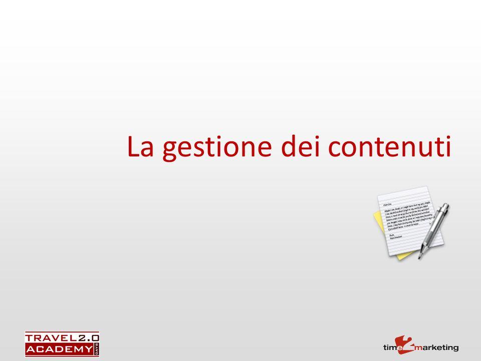 La gestione dei contenuti