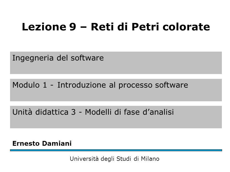 Ingegneria del software Modulo 1 -Introduzione al processo software Unità didattica 3 - Modelli di fase danalisi Ernesto Damiani Università degli Stud