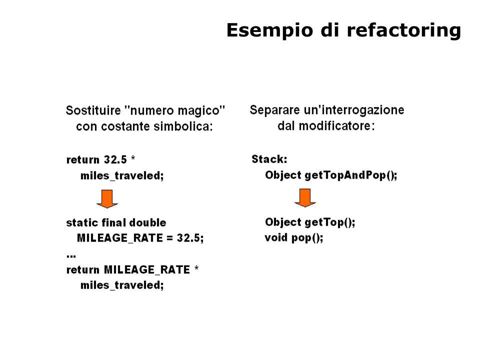 Esempio di refactoring