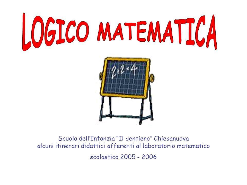 Scuola dellInfanzia Il sentiero Chiesanuova alcuni itinerari didattici afferenti al laboratorio matematico scolastico 2005 - 2006