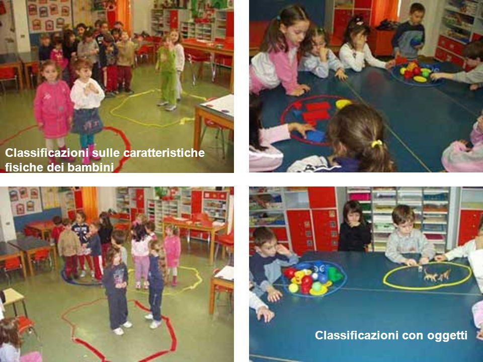Classificazioni con oggetti Classificazioni sulle caratteristiche fisiche dei bambini