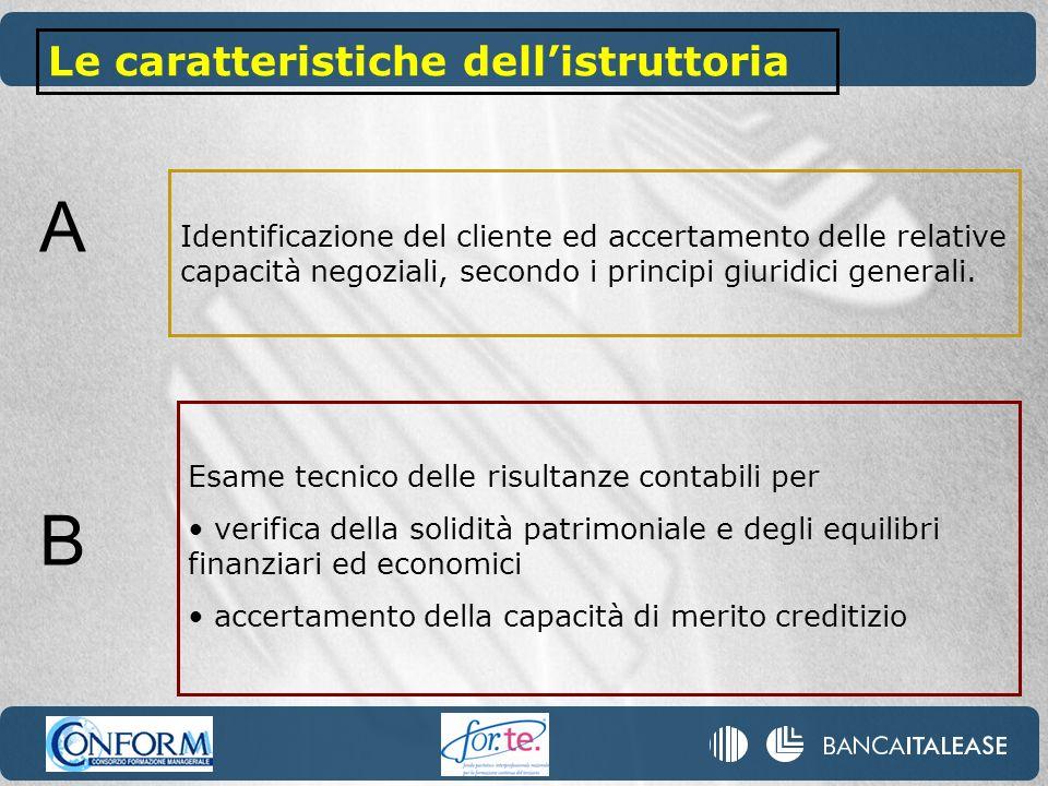 Identificazione del cliente ed accertamento delle relative capacità negoziali, secondo i principi giuridici generali. Le caratteristiche dellistruttor