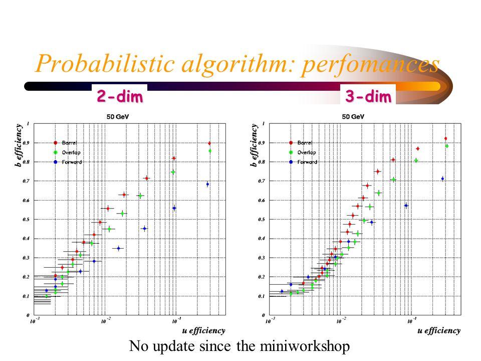Decay Lenght - probabilistic method: performances NEW!