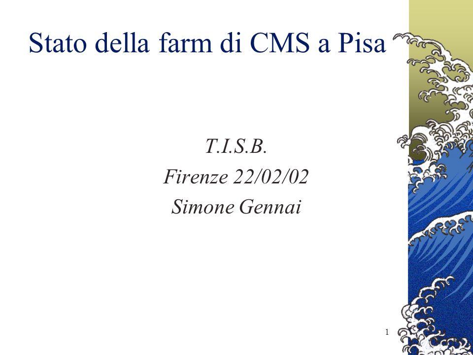 1 Stato della farm di CMS a Pisa T.I.S.B. Firenze 22/02/02 Simone Gennai