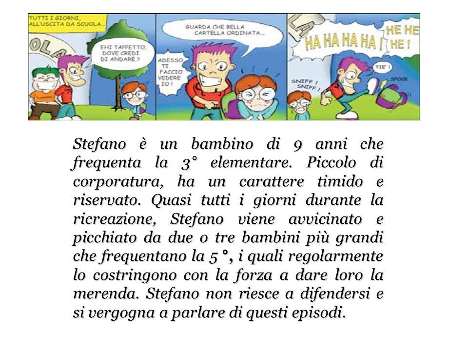 Stefano è un bambino di 9 anni che frequenta la 3° elementare.